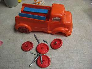 Vintage 10 Unbranded Plastic Toy Work Truck for Parts/Repair