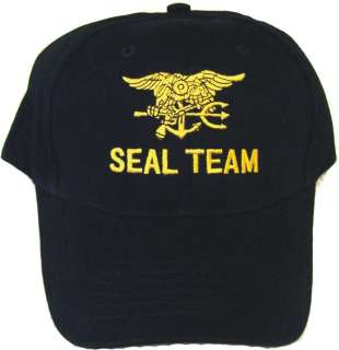 Low Profile Black Navy Seal Hat Cap Embroidered NEW