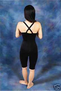 High Waist, No Zippers with Suspenders, Above Knee Compression Garment