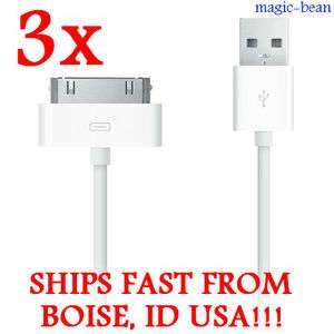 3x Data Sync Cable Charger Cord iPad 2 iPod Touch Nano iPhone 3 3GS 4