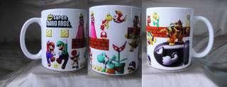 Super Mario Bros WII Nintendo Game Mug Cup