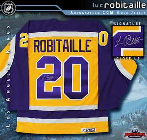 Los Angeles Kings LUC ROBITAILLE Signed CCM Jersey