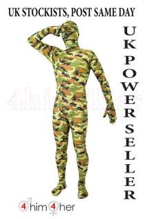 Army Camouflage Bodysuit Lycra Zentai Full Body Suit