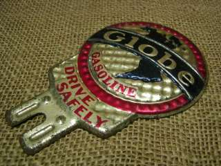 Vintage Globe Gas Oil Sign  Antique Old Gasoline Auto Station Tag