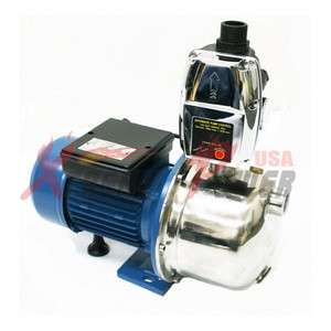 1HP Stainless Steel Jet Shallow Water Booster Pump Pressure Control