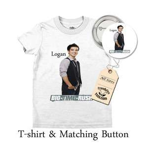 Big Time Rush T shirt & Button Combo   Logan