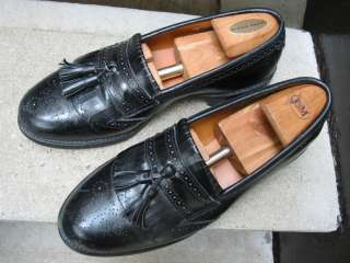 Allen Edmonds Mens Black Loafers Used Shoes 9.5 C |