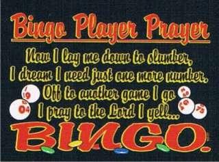 BINGO PLAYER PRAYER Cool Casino Las Vegas Funny T Shirt