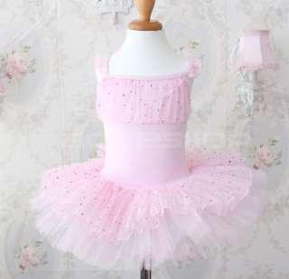 Girls Fairy Ballet Dance Costume Party Dress Tutu 4 10Y