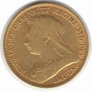 GREAT BRITAIN 1/2 SOVEREIGN KM 784 VF GOLD COIN Victoria 1893