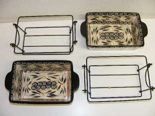 World Ovenware Painted Dish 5x7 Hot Plate Bakeware Temp tations