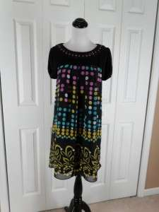 Nicole Miller 4 Black MODERN Sequin PARTY Dress HOT