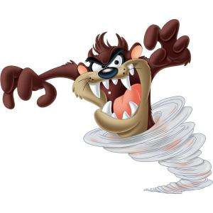 RoomMates Looney Tunes   Taz Peel and Stick Giant Wall Decals