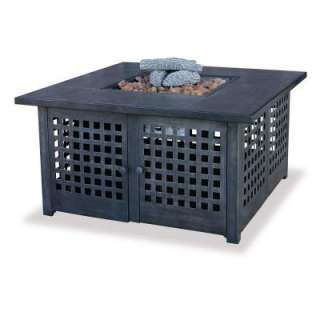 UniFlameLP Gas Fire Pit with Ceramic Tile Table