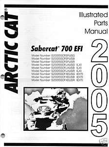 2005 ARCTIC CAT SABERCAT 700 EFI PARTS MANUAL NEW