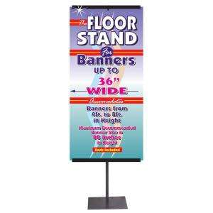 Lynch Sign Co. Telescoping Banner Stand   36 in. Wide A FS4836 at The