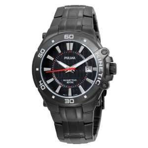 Pulsar Mens PAR149 Watch Kinetic Black Ion Finish P91