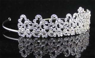 Wedding/Bridal crystal veil tiara crown headband CR191
