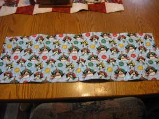 Handmade Quilted Table Runner Christmas M & Ms M&Ms penguins