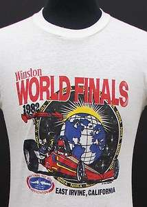 vintage 1982 NHRA DRAG RACING soft thin T SHIRT small 80s