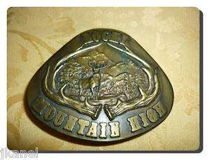 VINTAGE 1977 *ROCKY MOUNTAIN HIGH* SOUVENIR BELT BUCKLE