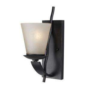 Bay Bravado Collection 1 Light Brunette Wall Sconce with Glass Shade