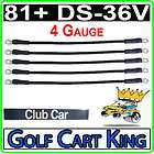 Club Car DS 81+ Golf Cart   Battery Cable Set (4 Guage)