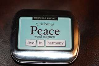 Refrigerator Magnets:Magnetic Poetry..PEACE Word Magnet