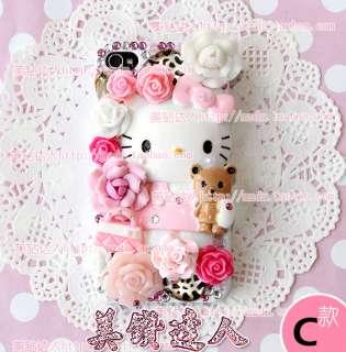 New 4 Style Hello Kitty Cartoon Characters Flatback DIY Phone Case