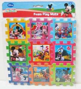 Mickey Mouse & Friends Foam PUZZLE PLAY MAT Cube NEW