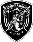 RAMONES johnny ramone army EMBROIDERED PATCH iron/sew *