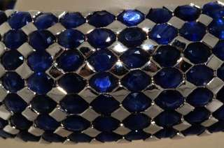 5,000 75.00CT OVAL CUT BLUE SAPPHIRE CLUSTER BANGLE BEAUTIFUL
