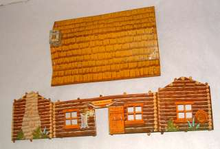 1950s MARX BAR M RANCH ROY ROGERS METAL CABIN PLAY SET
