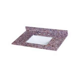 St. Paul Stone Effects 37 In. Vanity Top in Capri With White Bowl