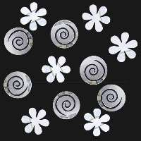 Flowers & Swirls Peel & Stick Decorative Acrylic Mirror Set