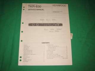 Kenwood service repair manual TKR 830 UHF FM repeater |