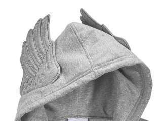 Adidas OBYO Jeremy Scott JS Wings Hooded Sweatshirt Hoodie Grey