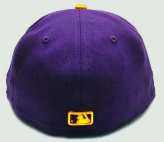 ERA 59FIFTY MLB BASEBALL CAP LOS ANGELES DODGERS PURPLE WITH GOLD HAT