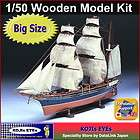 50 Kanrin Maru Wooden Sailing Ship Model Kit Big Scale Japan