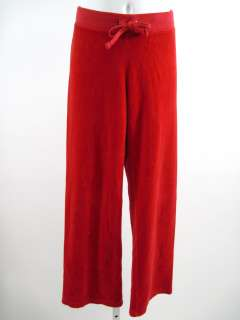 JUICY COUTURE Girls Red Velour Pants Sz 7