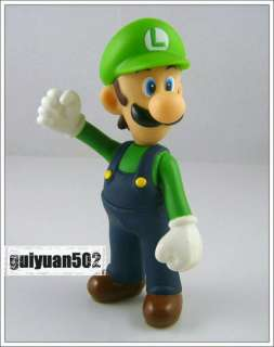 New Super Mario Bros 5 Luigi Action Figure Doll Toy L