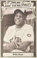 1980 Willie Mays TCMA Postcard San Francisco Giants