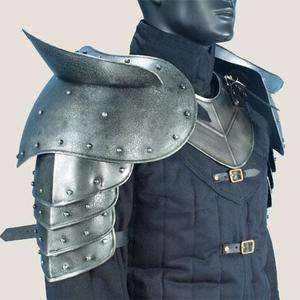 MEDIEVAL GOTHIC FANTASY Steel Shoulder Guard DARK WARRIOR PAULDRON