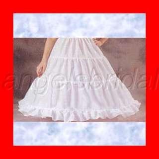 BRIDAL WEDDING GOWN CRINOLINE PETTICOAT SKIRT SLIP SIZE L 23