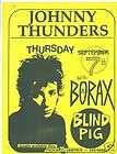 johnny thunders borax ann arbor blind pig punk concert handbill