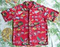 San Francisco 49ERS Rayon SHIRT HAWAIIAN