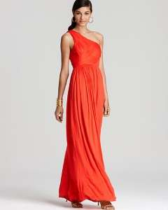 Bright Ruby Red Goddess 1 Shoulder Jersey Maxi Dress $385 NWT 2