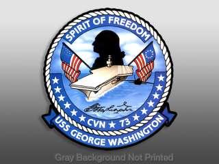 USS George Washington Sticker   military freedom decal