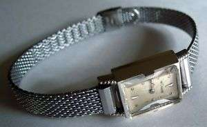 Jaeger LeCoultre Ladies 14K White Gold Watch w/ S/S Band