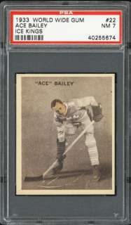 1933 34 World Wide Ice Kings #22 Ace Bailey PSA 7